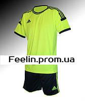 Футбольная форма игровая Adidas (Адидаc салатовая\черная)