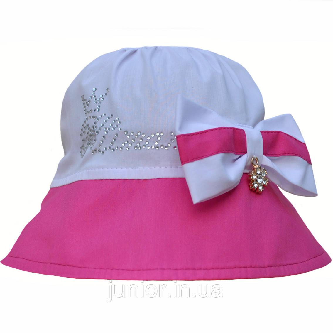 Річна капелюшок панама для дівчинки.Бавовна.52,54,56 р