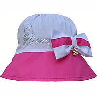 Летняя шляпка панама для девочки.Хлопок.52,54,56р, фото 1