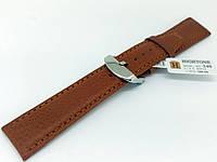 Ремінець шкіряний Hightone для наручних годинників з класичною застібкою, коричневий, 20 мм