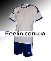Футбольная форма игровая Adidas (Адидаc белая\синяя)