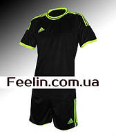Футбольная форма игровая Adidas (Адидаc Черная)