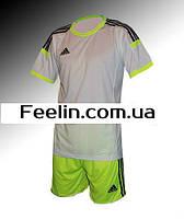 Футбольная форма игровая Adidas (Адидаc Белая\салатовая)
