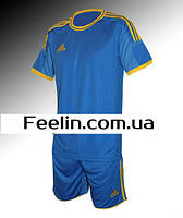 Футбольная форма игровая Adidas (Адидаc Голубая)