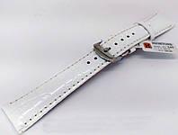 Ремінець шкіряний Hightone для наручних годинників з класичною застібкою, білий, 20 мм