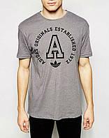 Мужская футболка с принтом адидас,Adidas