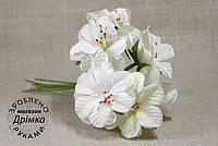 Букетик цветов белый