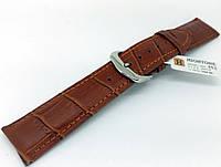 Ремешок кожаный Hightone для наручных часов с классической застежкой, коричневый, 20 мм, фото 1