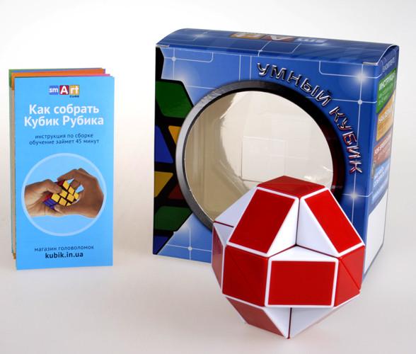 Змейка Рубика красная Smart Cube RED