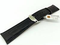 Ремешок кожаный Hightone для наручных часов с классической застежкой, черный, 21 мм, фото 1