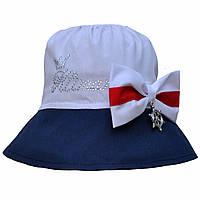 Летняя шляпка панама для девочки.Хлопок.