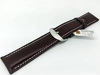 Ремінець шкіряний Hightone для наручних годинників з класичною застібкою, коричневий, 22 мм, фото 1