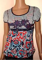 Блуза с узором размер M,L
