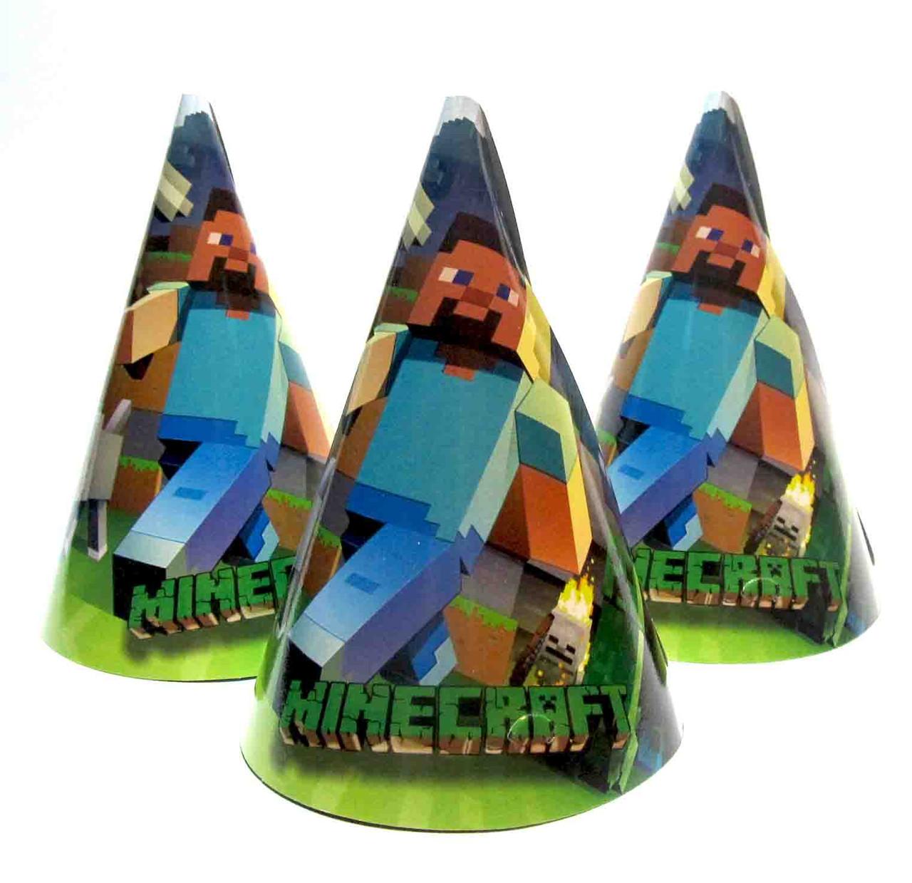 """Колпачки бумажные """"Minekraft"""". Размер: 16см."""