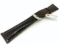 Ремешок кожаный Hightone для наручных часов с классической застежкой, коричневый, 22 мм, фото 1