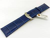 Ремешок кожаный Hightone для наручных часов с классической застежкой, синий, 22 мм, фото 1