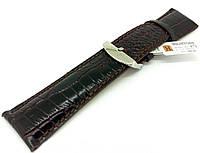 Ремешок кожаный Hightone для наручных часов с классической застежкой, коричневый, 26 мм