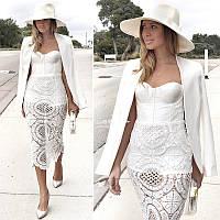 Herve Leger бандажное кружевное платье 5 расцветок