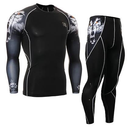 Комплект Рашгард Fixgear и компрессионные штаны CPD-B18+P2L-B18, фото 2