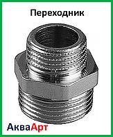 """Переходник 1.1/4н-1""""н никелированный"""