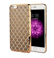 Золотой силиконовый чехол с камнями Сваровски для Iphone 6/6S, фото 1