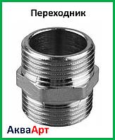 Переходник 1.1/4н-1.1/4н никелированный