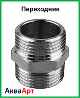 Переходник 1.1/2н-1.1/2н никелированный