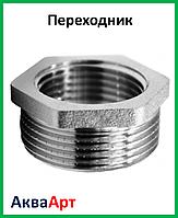"""Переходник 1/2в-1""""н никелированный"""