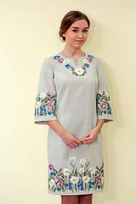 09a754784f89e1 Вишита сукня у класичному стилі із квітковим орнаметом «Ромашкове поле»