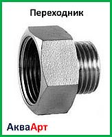 """Переходник 3/4н-1""""в никелированный"""