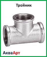 Тройник никелированный 3/4в-3/4в-3/4в