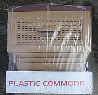 Комод пластиковый на 4 ящика бежево-коричневый производство Турция