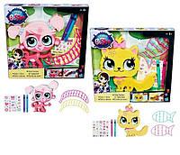 Литл Пет Шоп Игровой набор Укрась зверюшку (2 вида) Littlest Pet Shop Hasbro