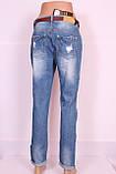 Жіночі джинси турецькі бойфренди великого розміру, фото 3