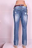 Жіночі джинси турецькі бойфренди великого розміру, фото 4