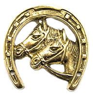 Подкова с лошадьми бронзовая