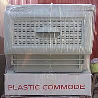 Комод пластиковый на 4 ящика серый производство Турция