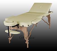 Трехсекционный деревянный массажный стол SOL