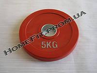 Диск олимпийский обрезиненный 5 кг (51,5 мм)