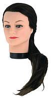 ОПТОМ!!! Голова учебная на Штативе Болванка 50-55см, черные волосы,белые