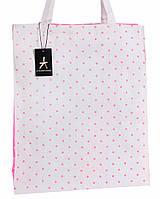 Бело-розовая женская сумка-шоппер TOITA, фото 1