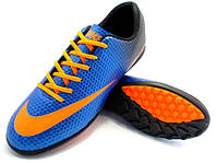 Футбольные сороконожки Nike Mercurial Victory Turf Blue/Orange/Black, фото 1