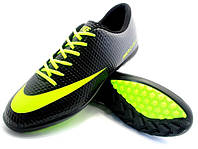 Футбольные сороконожки Nike Mercurial Victory Turf Black/Yellow/Gray, фото 1