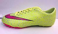 Кроссовки футбольные Nike CR7 желтые Кроссовки футбольные Nike Mercurial салатовые NI0112