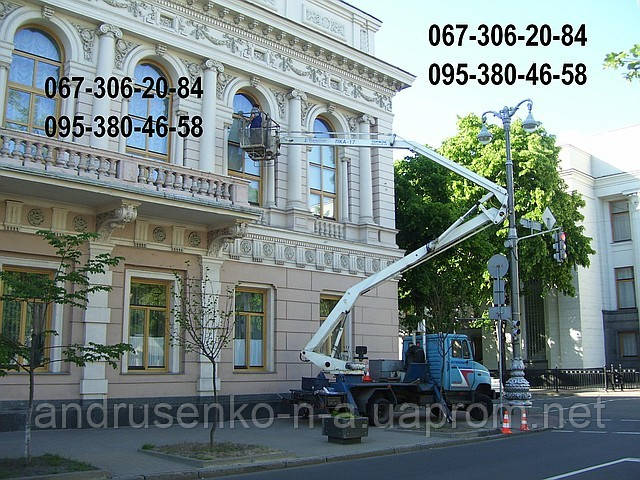 Автовышка. Услуги автовышки, аренда автовышки Киев.
