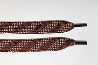 Шнурки плоские 15мм. коричневый+бежевый , фото 1