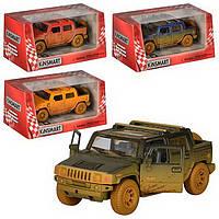 """Модель джип 5"""" 2005  Hummer H2 SUT (Muddy) метал.инерц.откр.дв.1:40 кор"""