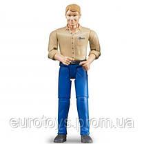 Bruder Фигурка мужчины в голубых джинсах( 60006)