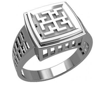 Кольцо серебряное Духобор 30233