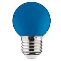 LED Лампа синяя G45 1W E27
